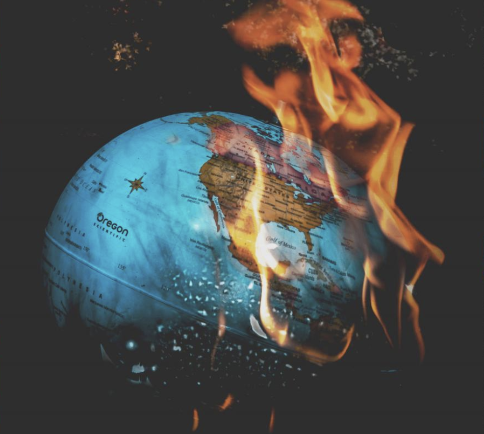 Globe on Fire. Photography by: Dixie Chatt