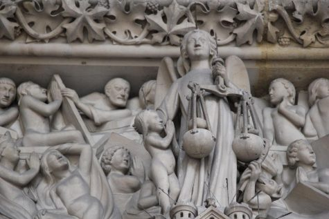 Sculpted Scene in Saint-Chapelle, Paris, France