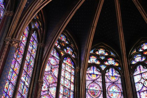 Architecture of Sainte-Chapelle, Paris, France