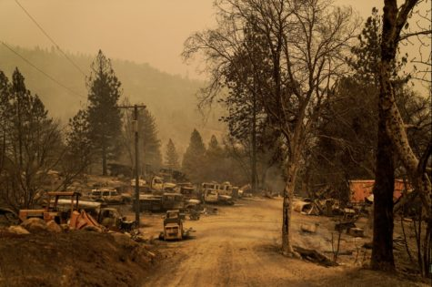 Fires leave cities devastated and unrecognizable. Photography from: US-NEWS-CALIF-WILDFIRES-FAMILY-3-LA. Tribune Content Agency LLC, Chicago, 2020. eLibrary.