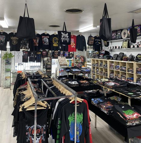 Photo of the selection of t-shirts at Black Zone. Photography by Alexis Jacinta