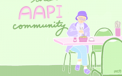 Protect the AAPI community. Original Artwork by: Brenda Nguyen.