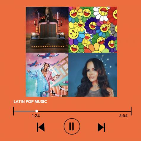 Collage depicting featured Latin Pop artist. Original artwork by: Belinda Miguel.